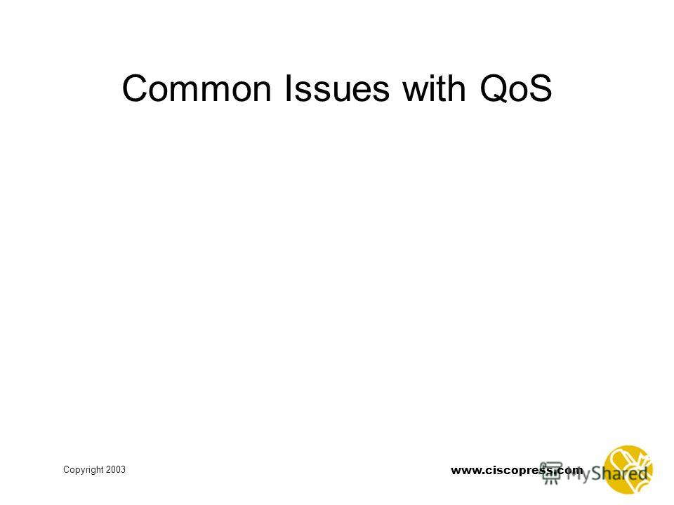 www.ciscopress.com Copyright 2003 Common Issues with QoS
