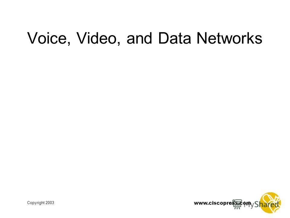 www.ciscopress.com Copyright 2003 Voice, Video, and Data Networks