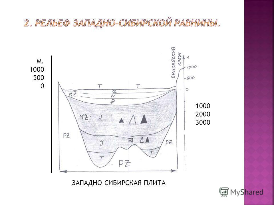 - 1000 - -2000 -3000 М 1000 500 0 -3000 1000 2000 3000 М. 1000 500 0 ЗАПАДНО-СИБИРСКАЯ ПЛИТА