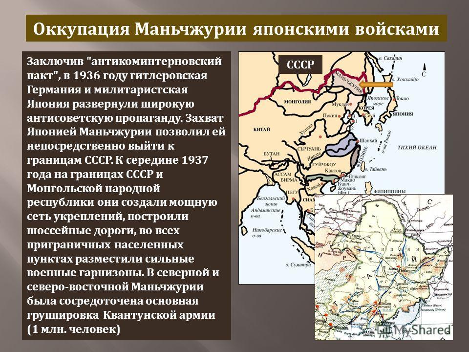 Оккупация Маньчжурии японскими войсками Заключив
