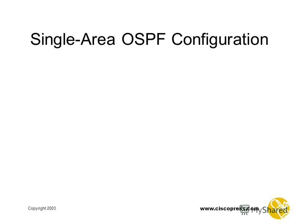 www.ciscopress.com Copyright 2003 Single-Area OSPF Configuration