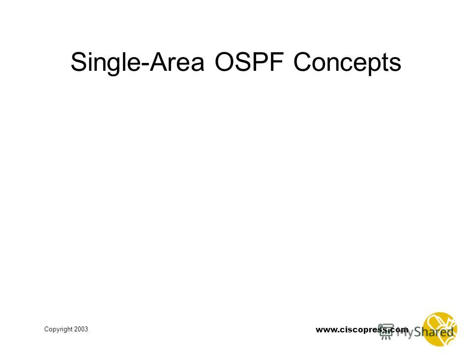 www.ciscopress.com Copyright 2003 Single-Area OSPF Concepts