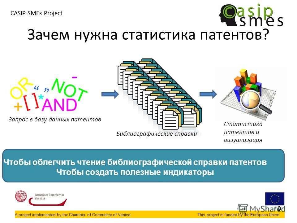 A project implemented by the Chamber of Commerce of VeniceThis project is funded by the European Union CASIP-SMEs Project A project implemented by the Chamber of Commerce of VeniceThis project is funded by the European Union Зачем нужна статистика па