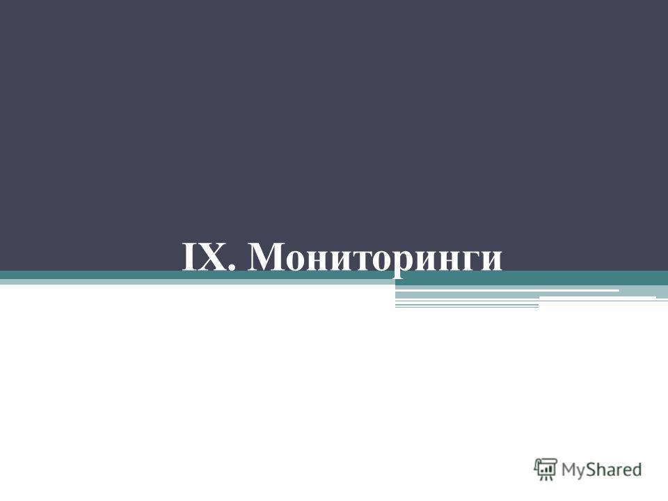 IX. Мониторинги