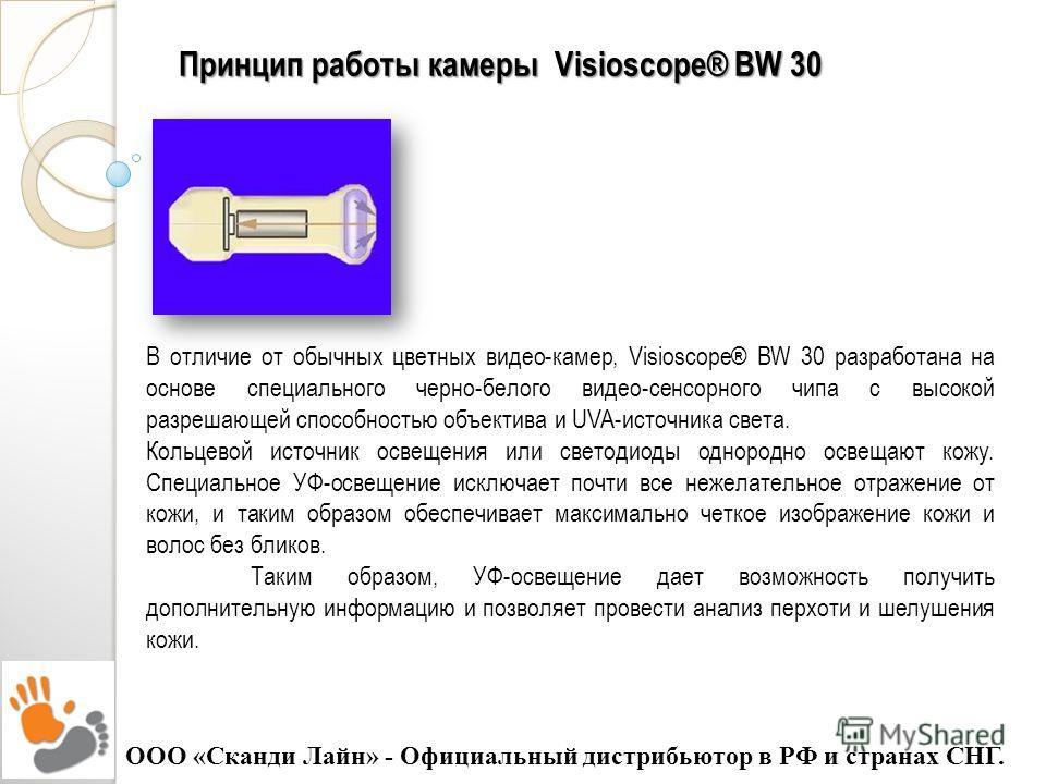Принципработы камеры Visioscope® BW 30 Принцип работы камеры Visioscope® BW 30 В отличие от обычных цветных видео-камер, Visioscope® BW 30 разработана на основе специального черно-белого видео-сенсорного чипа с высокой разрешающей способностью объект