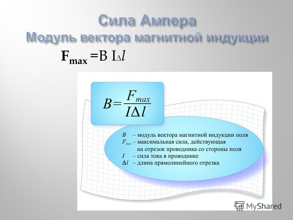 F max =B I l