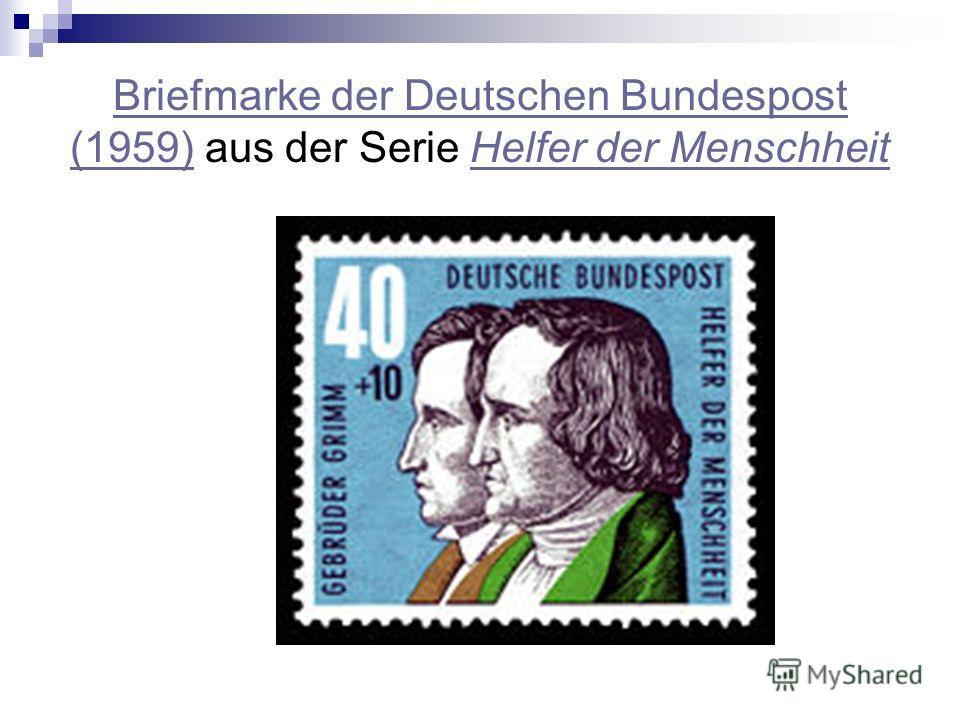 Briefmarke der Deutschen Bundespost (1959)Briefmarke der Deutschen Bundespost (1959) aus der Serie Helfer der MenschheitHelfer der Menschheit