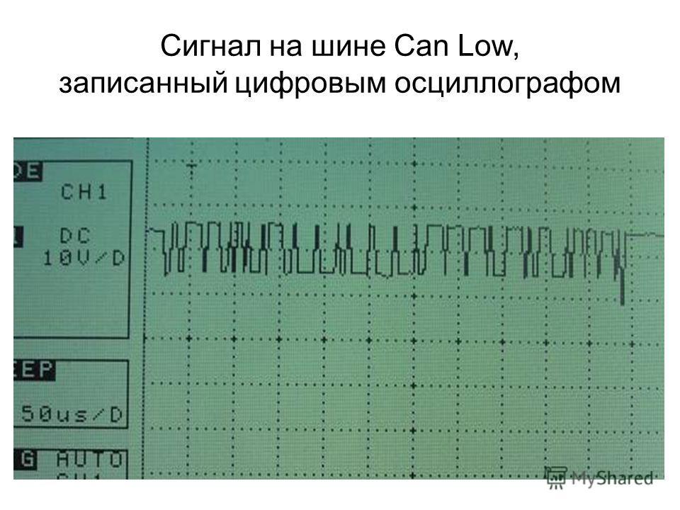 Сигнал на шине Can Low, записанный цифровым осциллографом