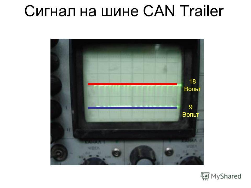 Сигнал на шине CAN Trailer 9 Вольт 18 Вольт