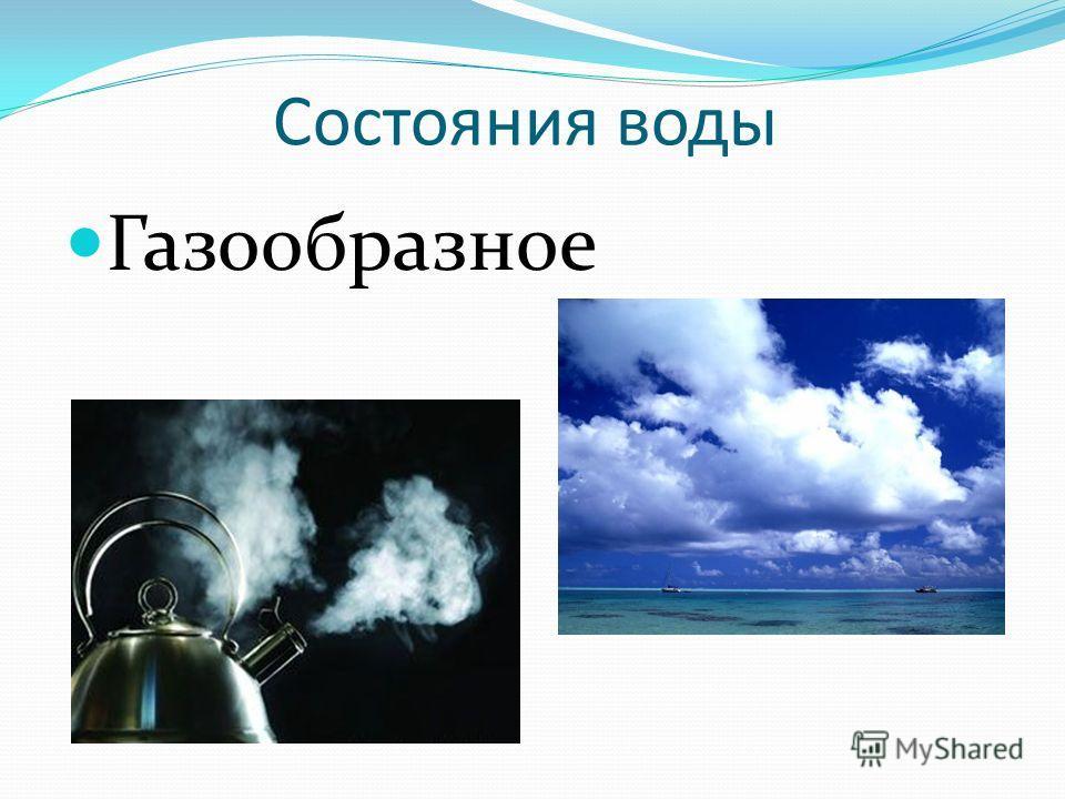Состояния воды Жидкое