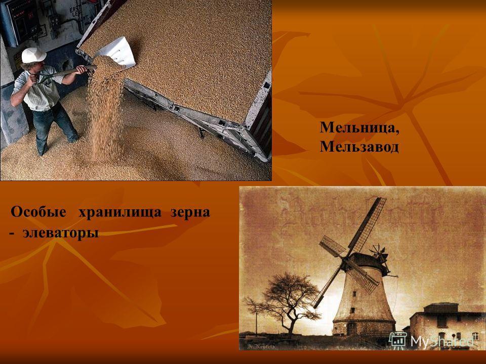 Особые хранилища зерна - элеваторы Мельница, Мельзавод