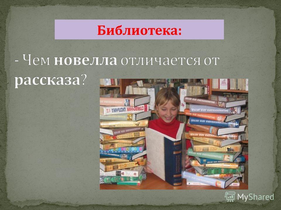 Библиотека :