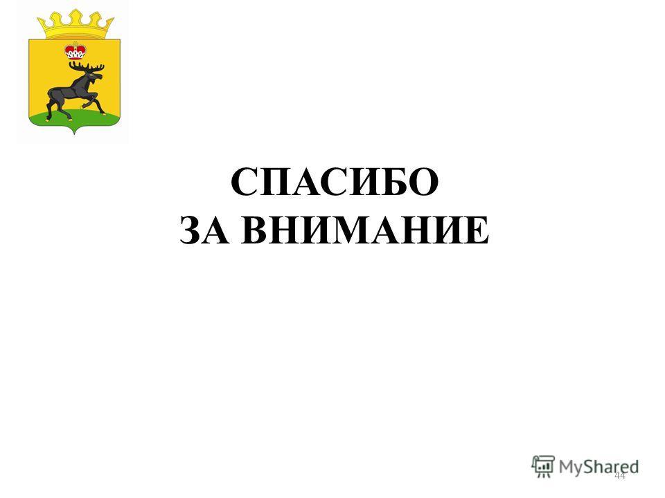 44 СПАСИБО ЗА ВНИМАНИЕ Герб МР(ГО)