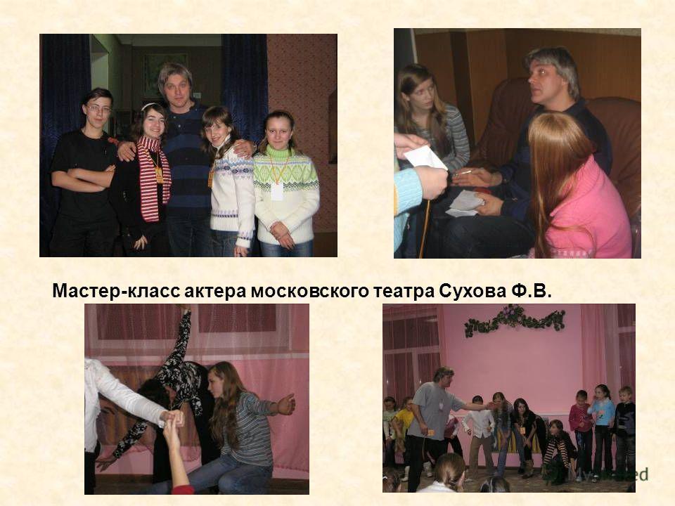 Мастер-класс актера московского театра Сухова Ф.В.