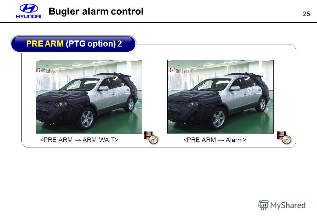 25 Bugler alarm control PRE ARM (PTG option) 2
