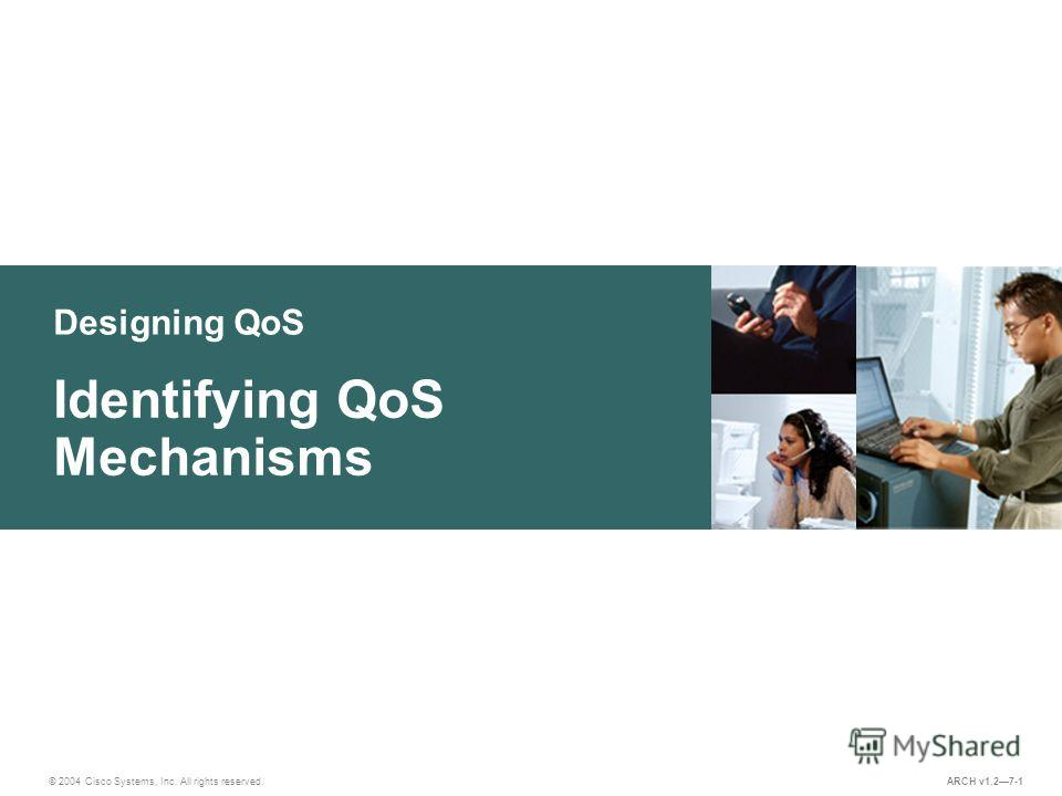 Designing QoS © 2004 Cisco Systems, Inc. All rights reserved. Identifying QoS Mechanisms ARCH v1.27-1