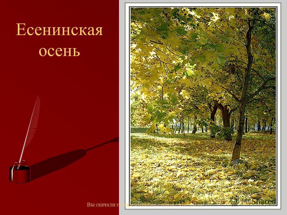 Есенинская осень Вы скачали эту презентацию с сайта - viki.rdf.ru