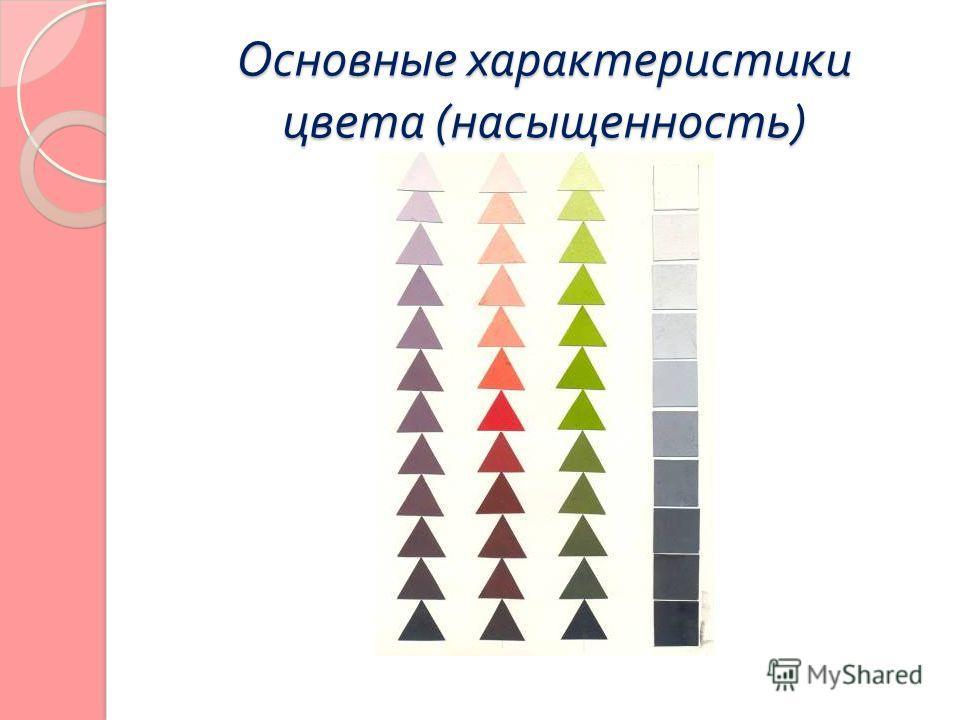 Основные характеристики цвета ( насыщенность )