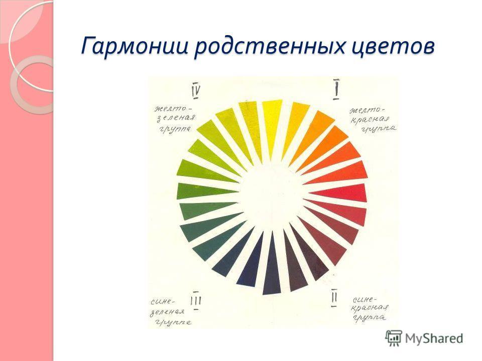 Гармонии родственных цветов
