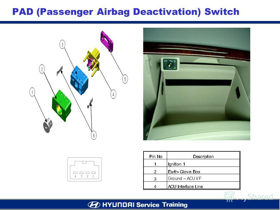 PAD (Passenger Airbag Deactivation) Switch