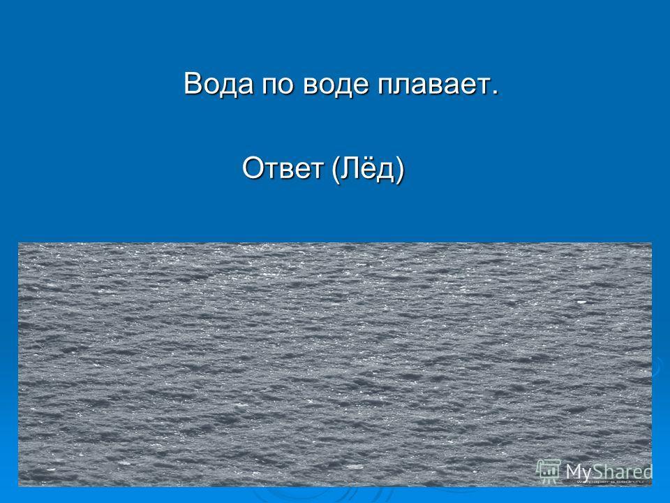 Вода по воде плавает. Ответ (Лёд)