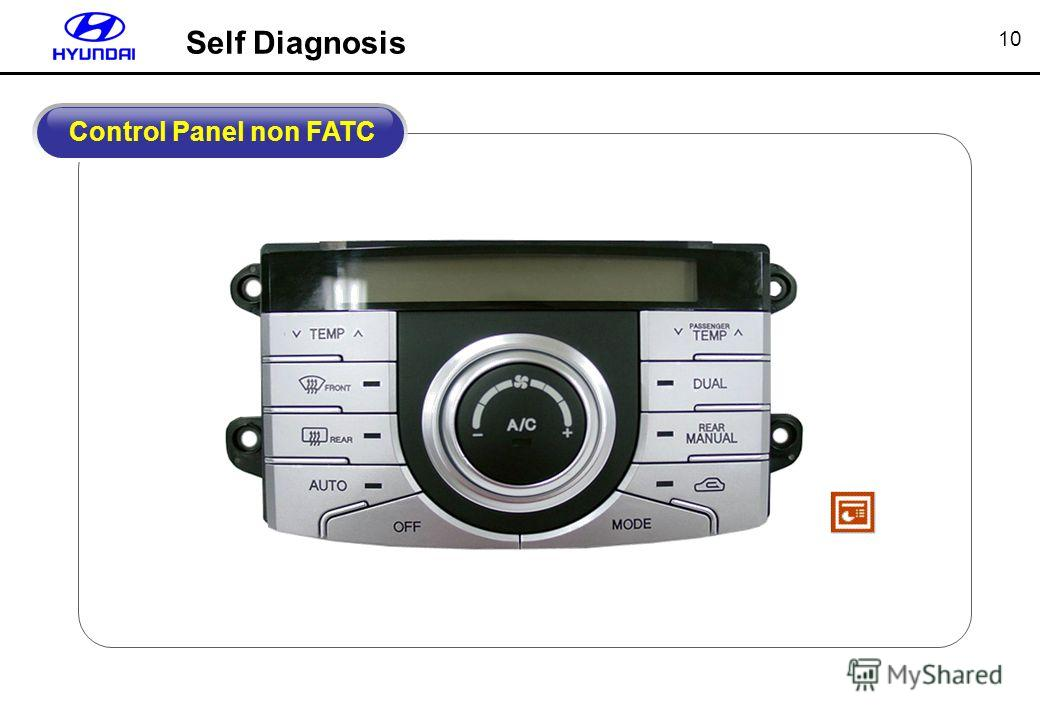 10 Control Panel non FATC Self Diagnosis