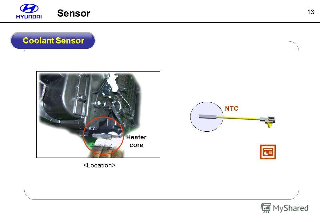 13 NTC Coolant Sensor Heater core Sensor