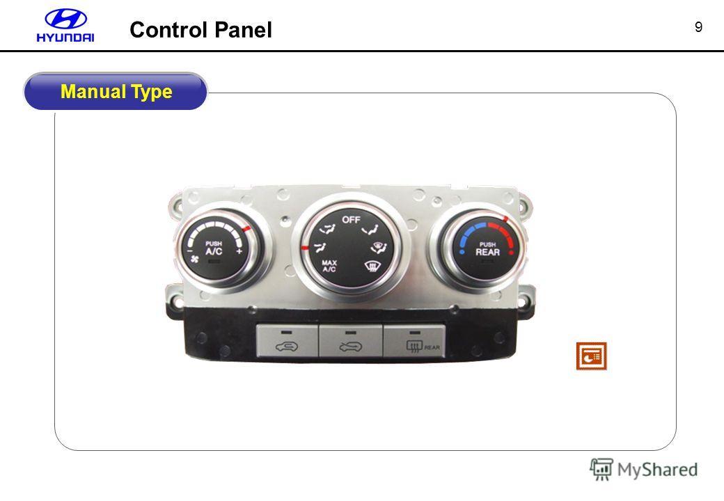 9 Control Panel Manual Type