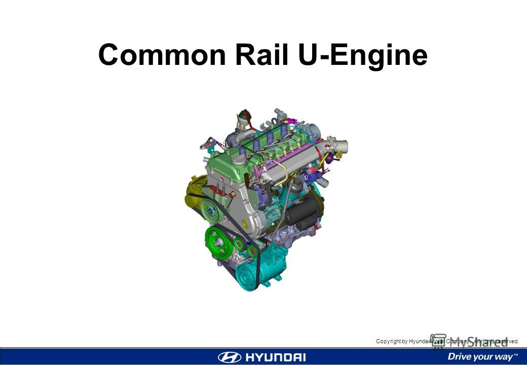 Copyright by Hyundai Motor Company. All rights reserved. Common Rail U-Engine