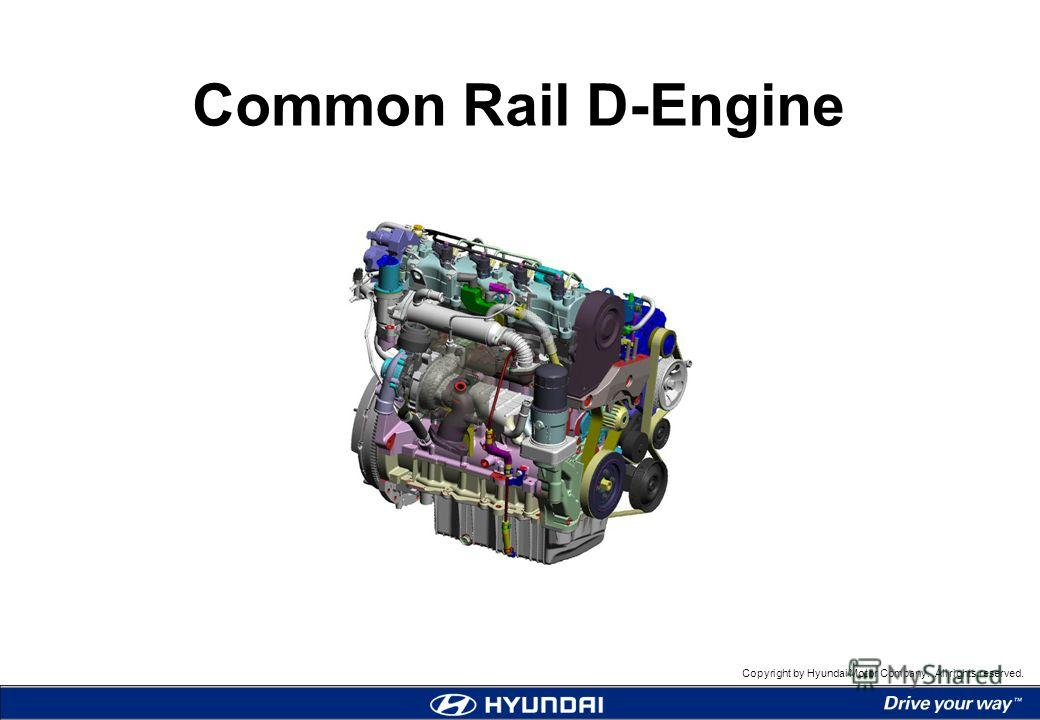 Copyright by Hyundai Motor Company. All rights reserved. Common Rail D-Engine