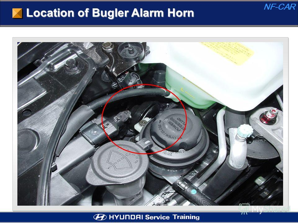 Location of Bugler Alarm Horn NF-CAR