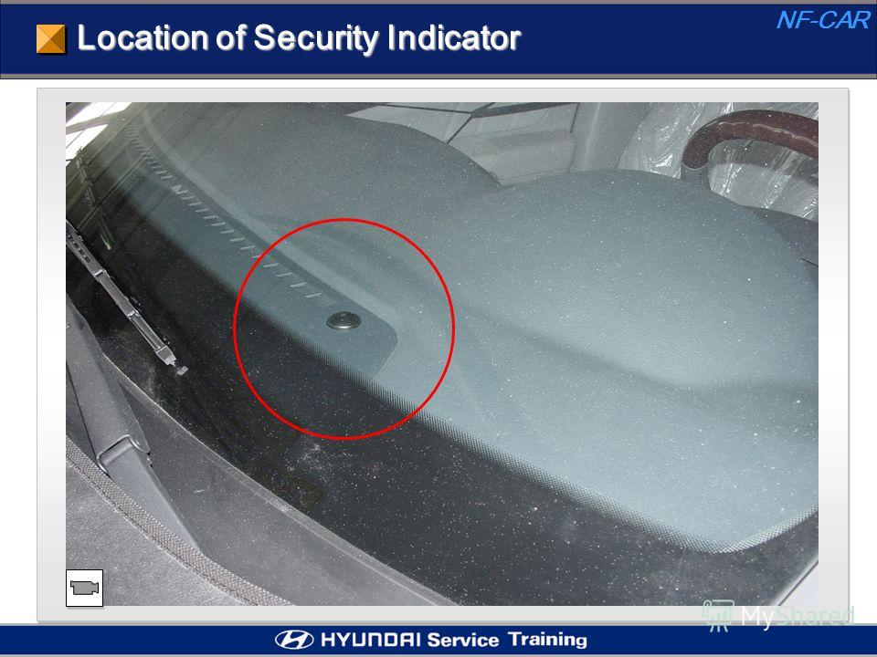 Location of Security Indicator NF-CAR