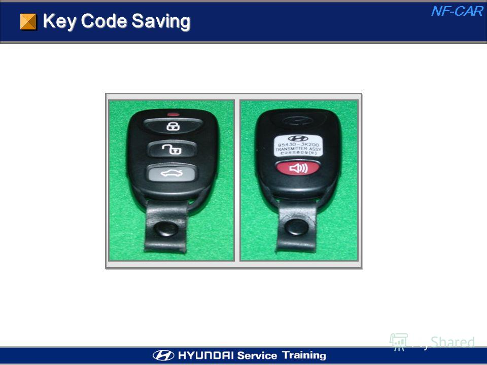 Key Code Saving NF-CAR