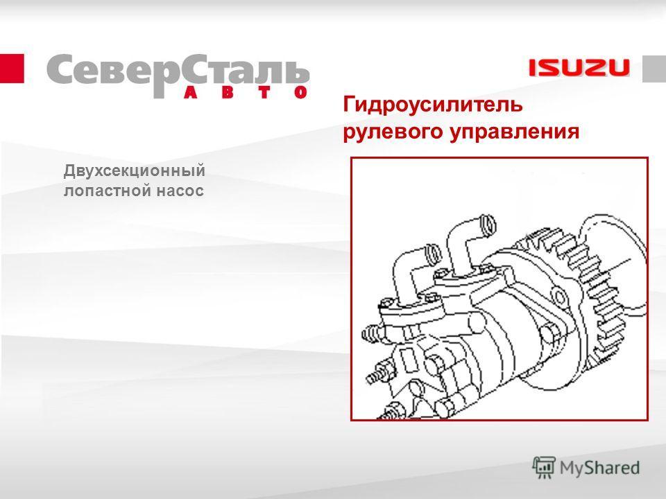 Гидроусилитель рулевого управления Двухсекционный лопастной насос