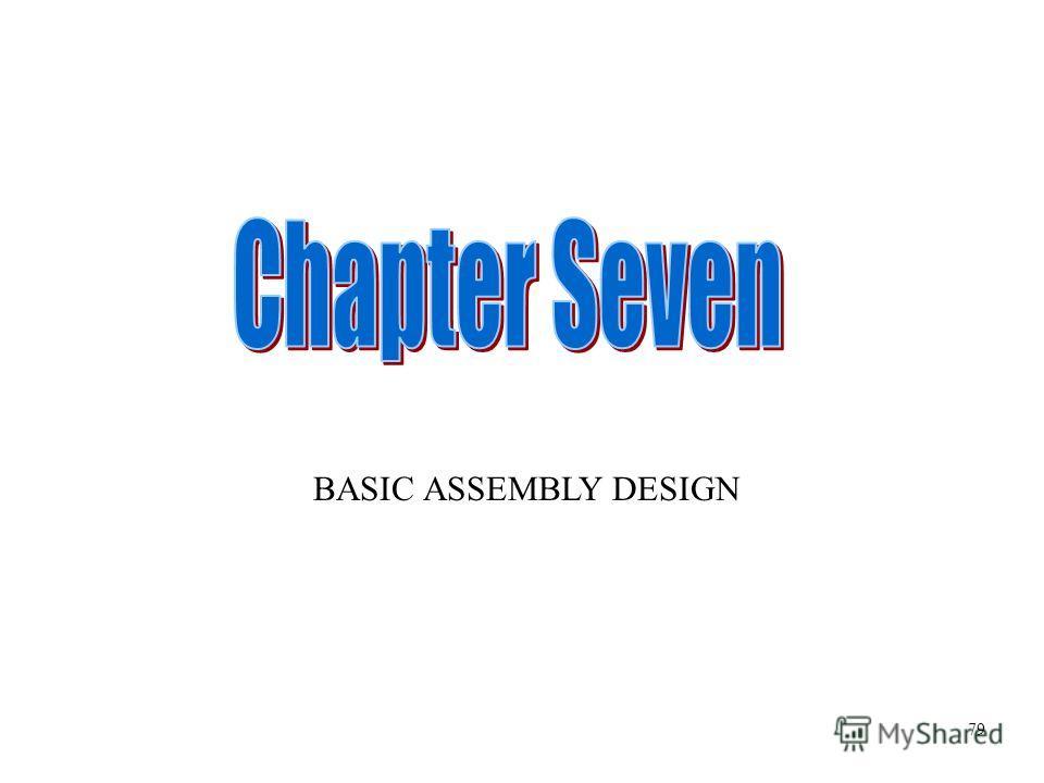 BASIC ASSEMBLY DESIGN 79