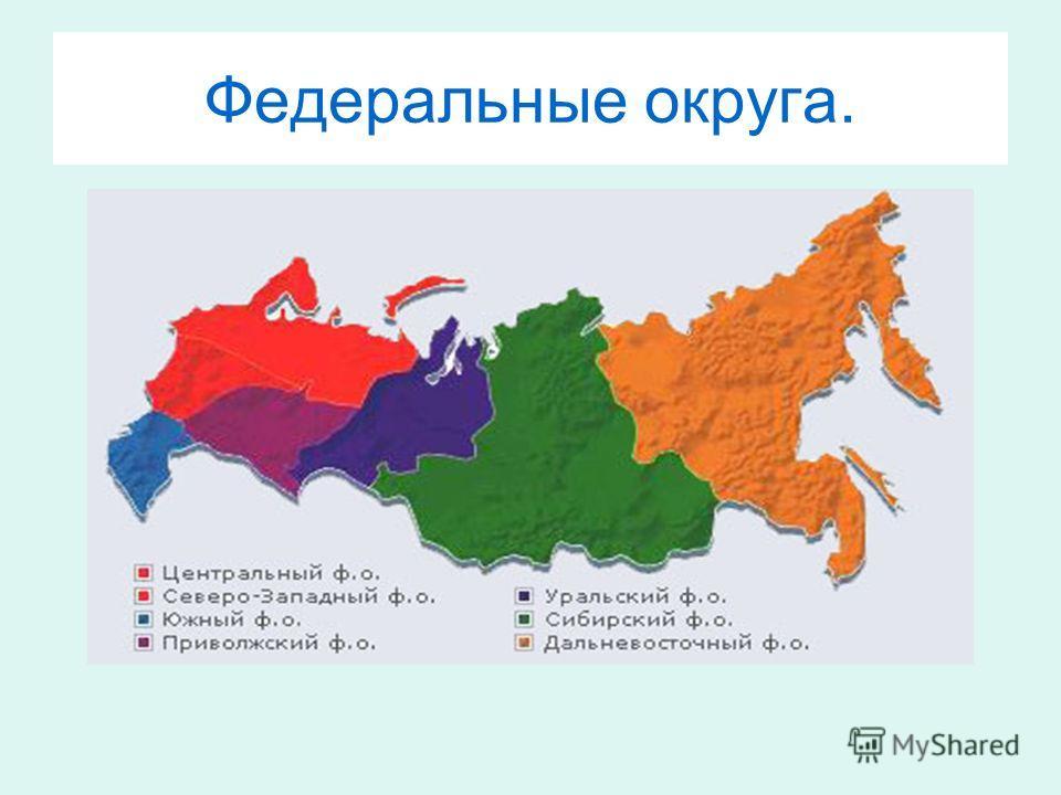 Федеральные округа.