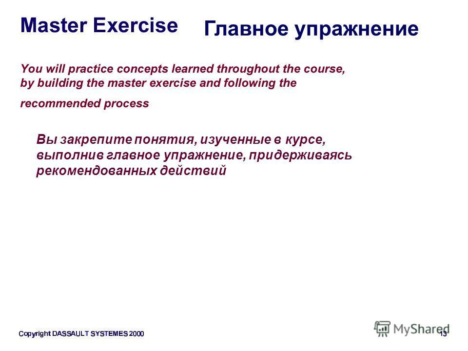Вы закрепите понятия, изученные в курсе, выполнив главное упражнение, придерживаясь рекомендованных действий Главное упражнение