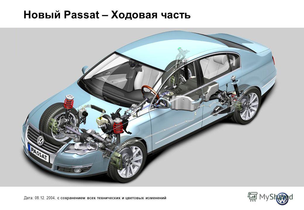 Новый Passat – Ходовая часть Дата: 08.12. 2004, с сохранением всех технических и цветовых изменений