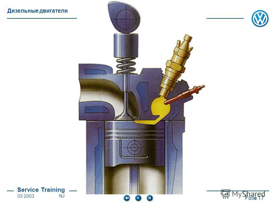 Service Training Folie 17 Дизельные двигатели 03.2003NJ
