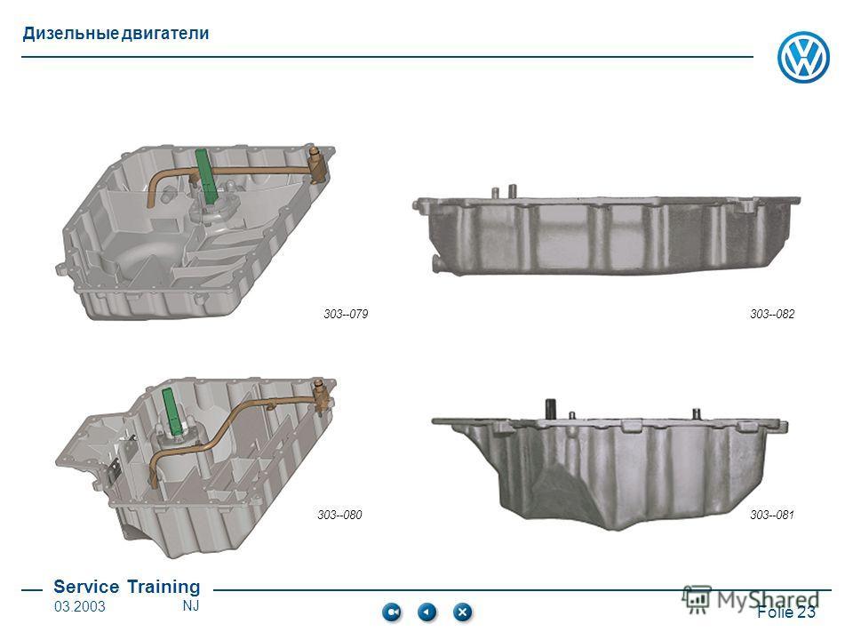Service Training Folie 23 Дизельные двигатели 03.2003NJ 303--079303--082 303--080303--081