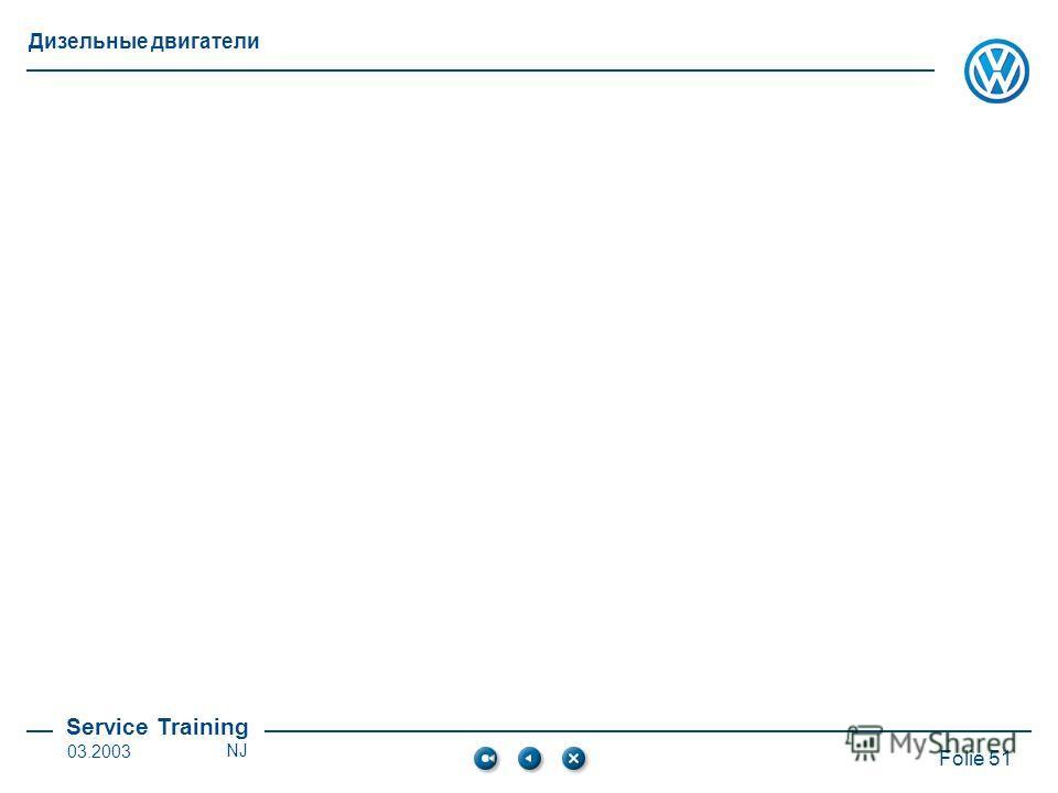 Service Training Folie 51 Дизельные двигатели 03.2003NJ