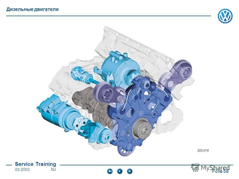 Service Training Folie 58 Дизельные двигатели 03.2003NJ 303-016