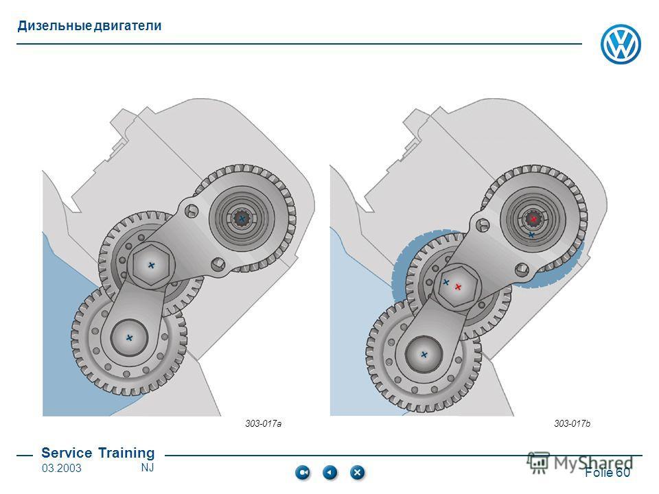 Service Training Folie 60 Дизельные двигатели 03.2003NJ 303-017a303-017b