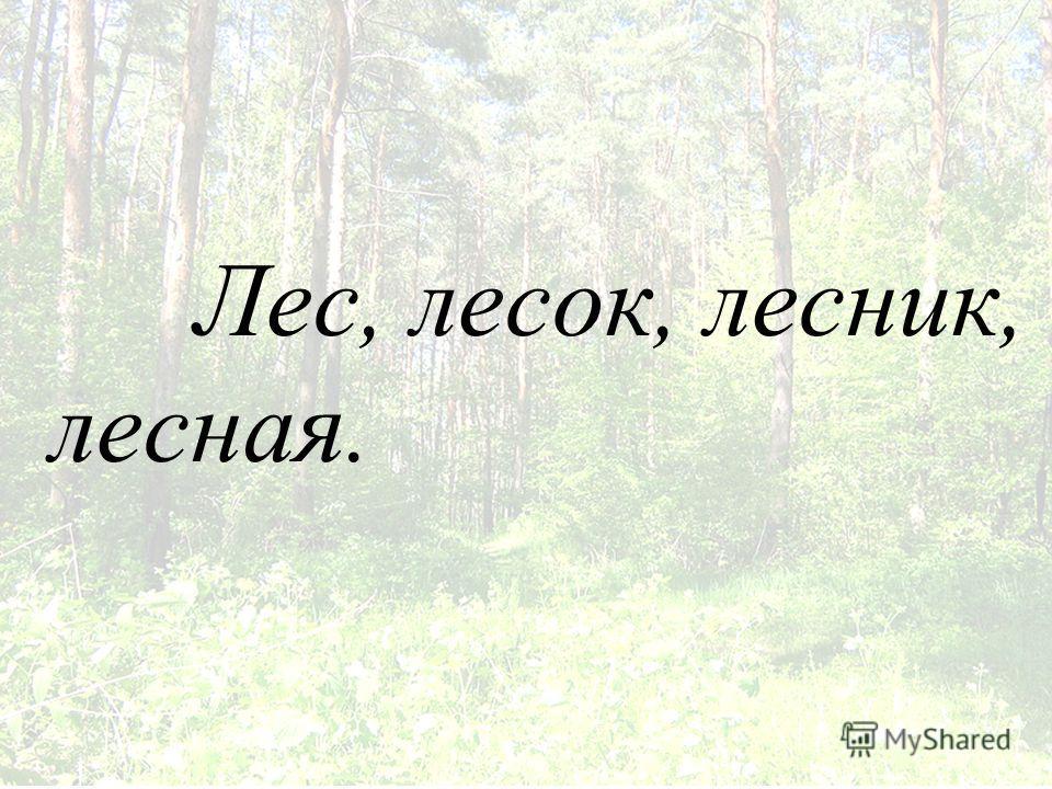 Лес, лисок, лисник, лисная.
