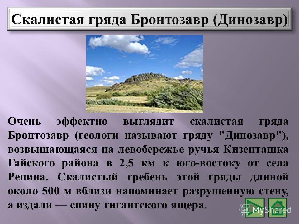 Очень эффектно выглядит скалистая гряда Бронтозавр ( геологи называют гряду
