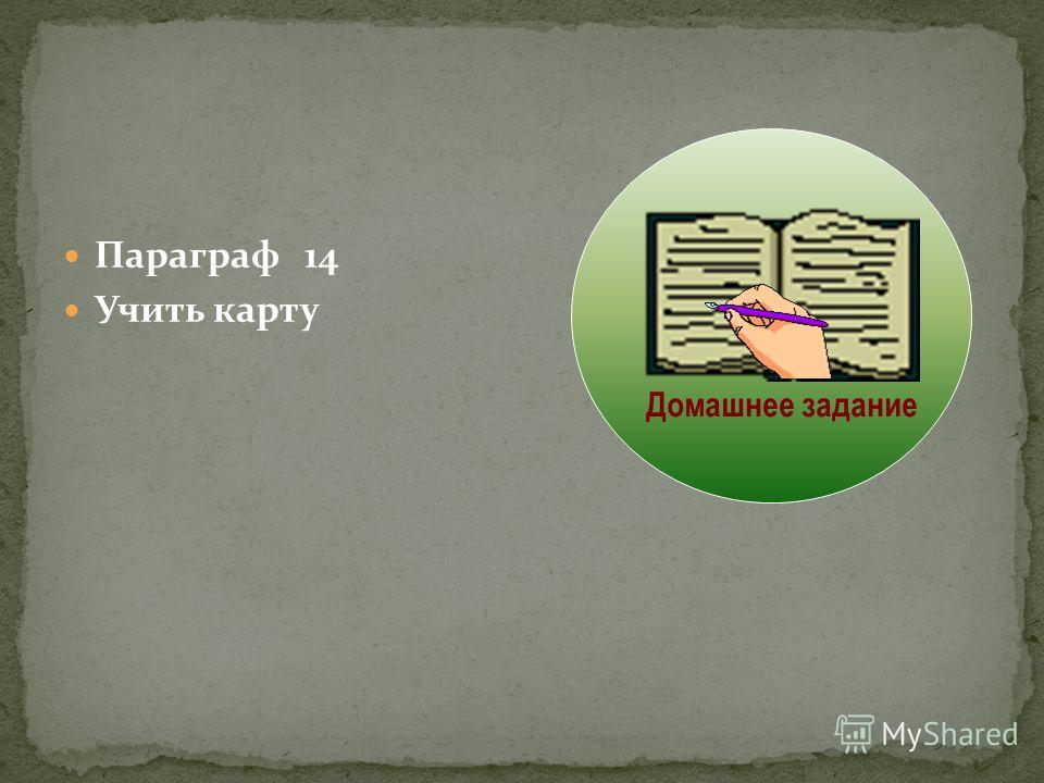 Параграф 14 Учить карту Домашнее задание