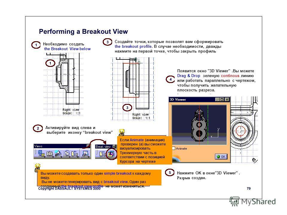 Необходимо создать the Breakout View below Создайте точки, которые позволят вам сформировать the breakout profile. В случае необходимости, дважды нажмите на первой точке, чтобы закрыть профиль Появится окно