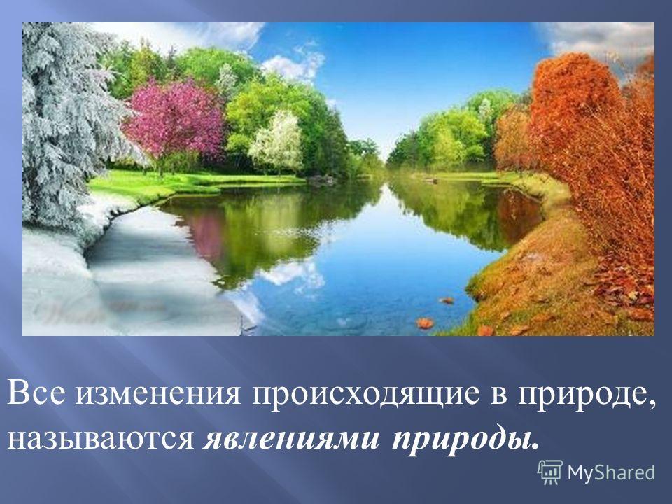 Все изменения происходящие в природе, называются явлениями природы.