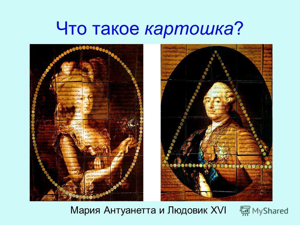 Что такое картошка? Мария Антуанетта и Людовик XVI