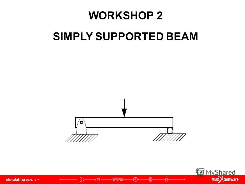 WORKSHOP 2 SIMPLY SUPPORTED BEAM